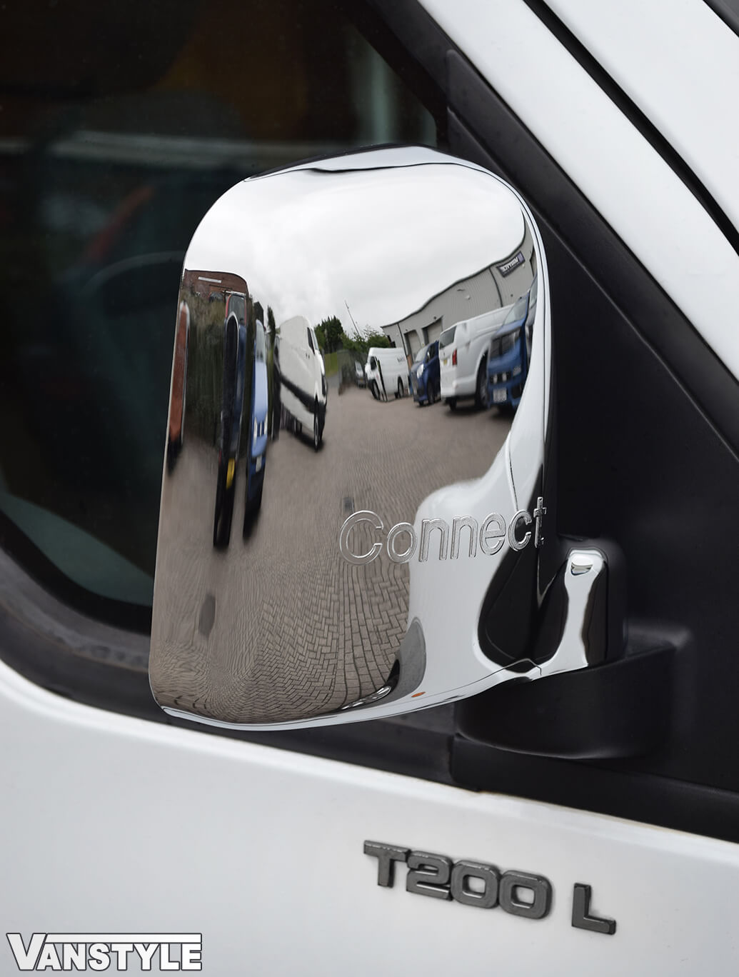 Chrome Mirror Cover Set Ford CONNECT 03-10 & 2010>14
