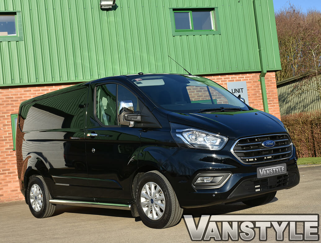 Ford Transit Custom Polished Stainless Steel Door Handle Covers