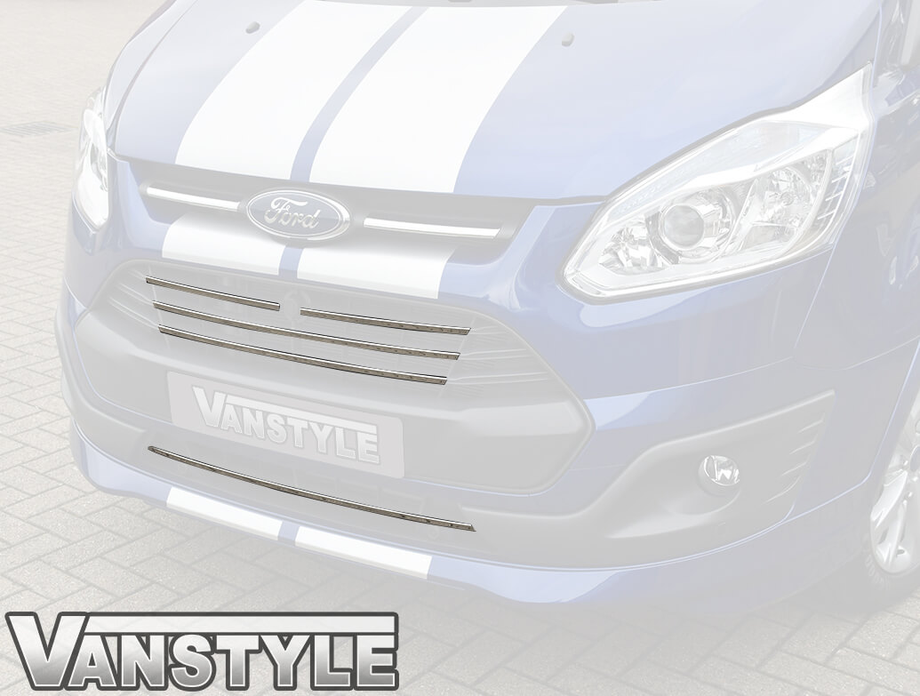 Ford Transit Custom 5 Piece Stainless Steel Front Grille 2012-18