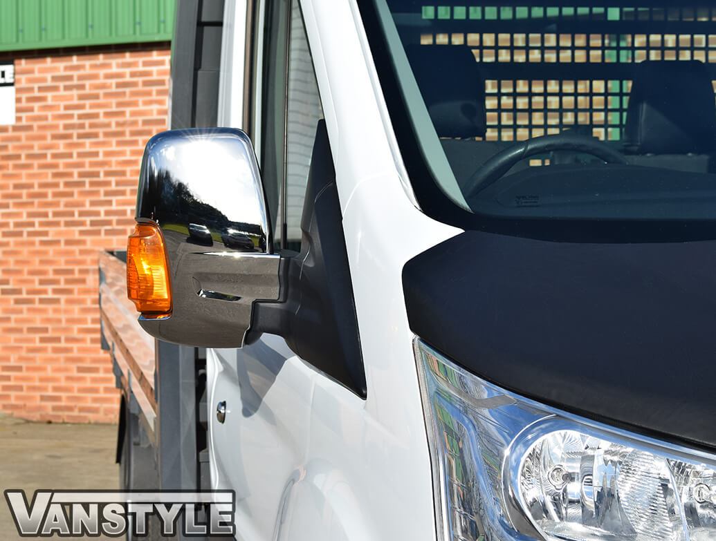 Ford Transit MK8 Chrome ABS Mirror Covers 2014-2019>