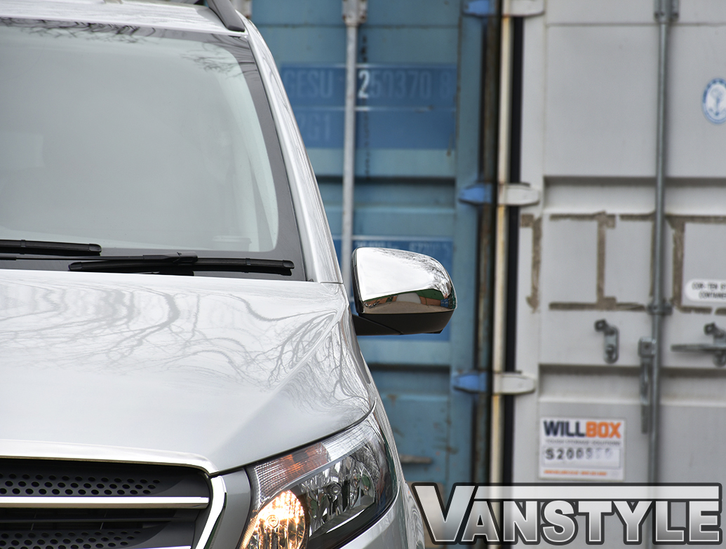 Mercedes Vito Chrome Polished ABS Mirror Covers