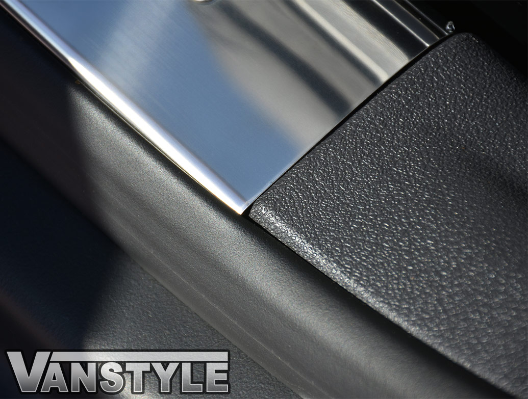 Polished Stainless Steel Inner Door Sill Covers - VW Caddy 2004>
