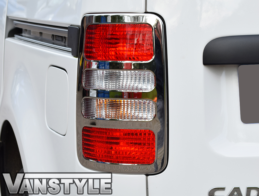 Rear Light Cover Set Stainless Steel - VW Caddy 04>14
