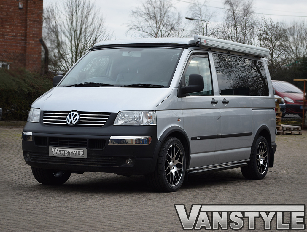 Stainless Steel Front Bumper Inserts, VW T5 2003-09