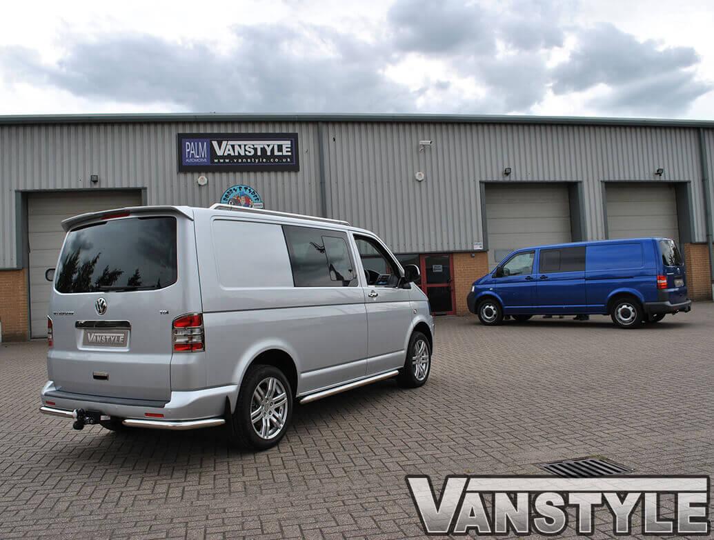 Stainless Steel Rear Light Covers VW T5 Transporter & Caravelle