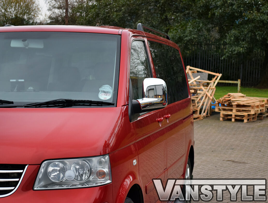 Chrome Mirror Cover Set, VW T5, Caravelle & Caddy