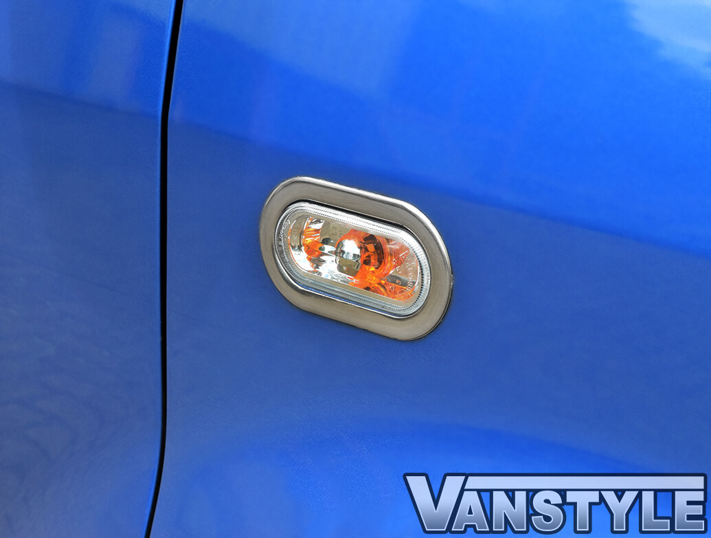 Side Indicator Rims - Stainless Steel - Pair T5 Caddy & Amarok