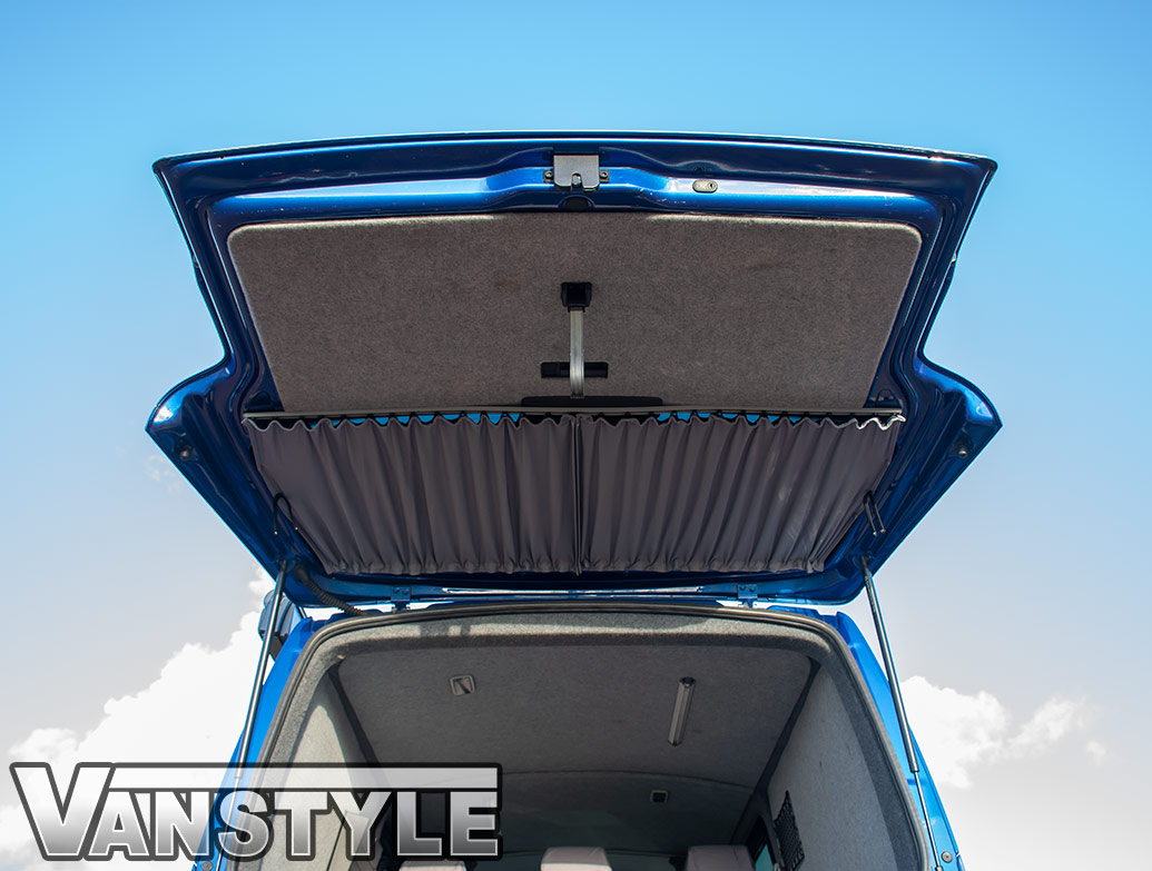 Tailored Blackout Curtain - Grey - Tailgate Window - VW T5/T6