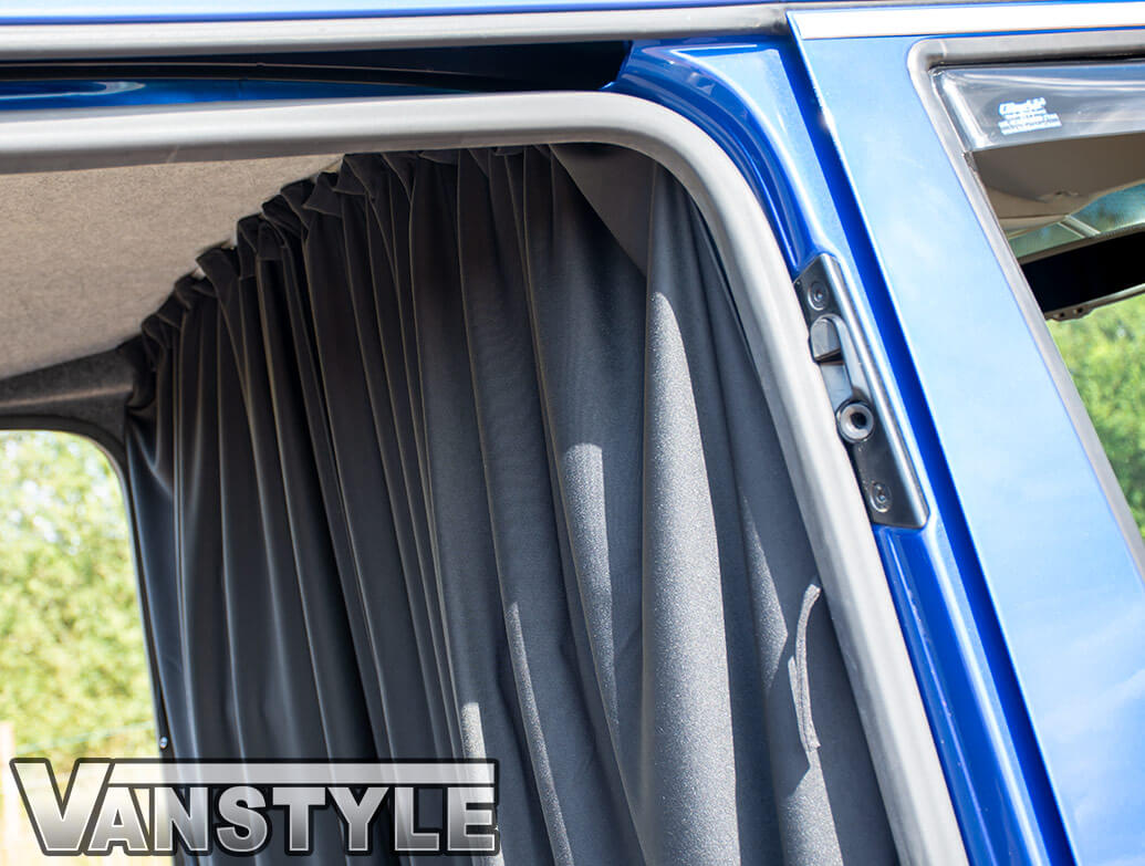 Tailored Blackout Curtain - Black - Cab Divider - VW T5 T6 03>