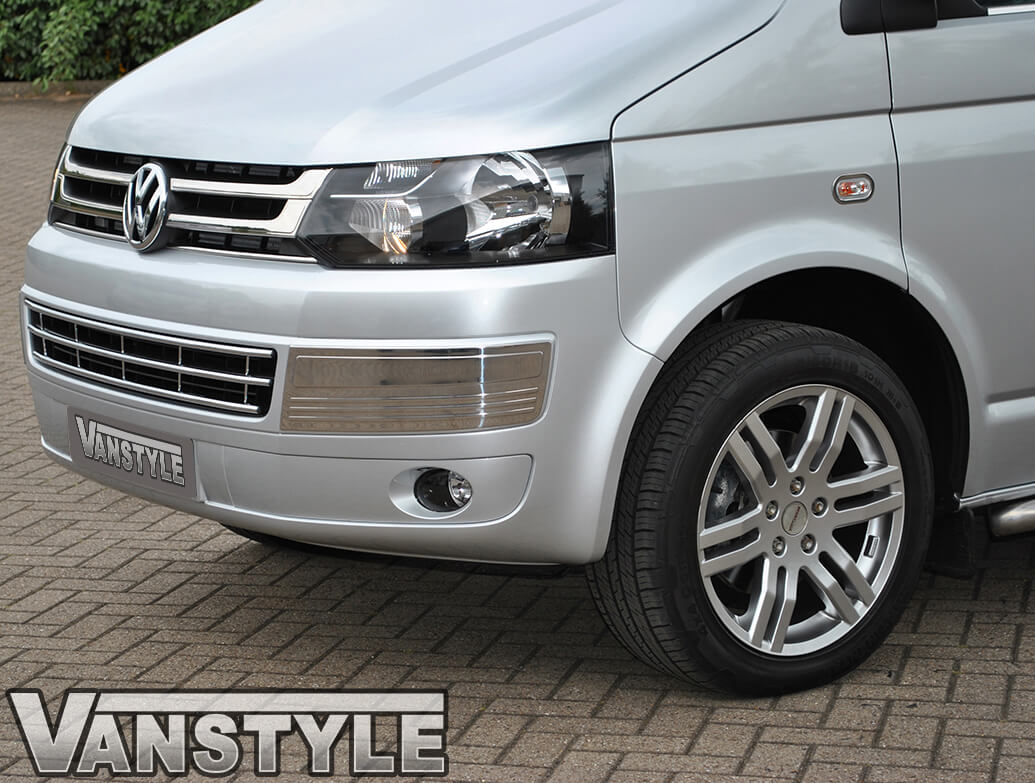4 Piece Stainless Steel Grille Trim - VW T5 & Caravelle 10>15