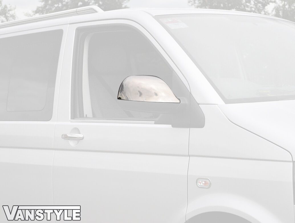 VW T5 / Amarok 2010> T6 2015> ABS Chrome Mirror Covers