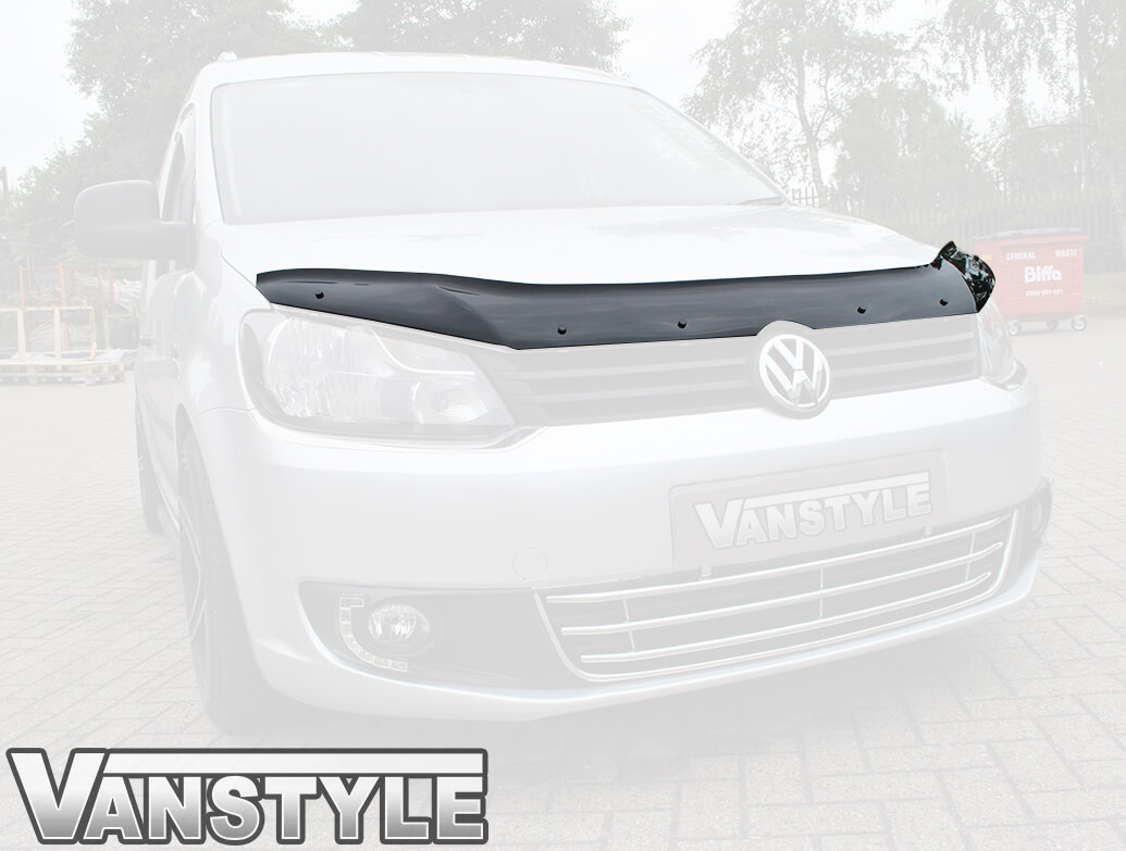 Gloss Black Acrylic Bonnet Deflector - VW Caddy & Maxi 10>15