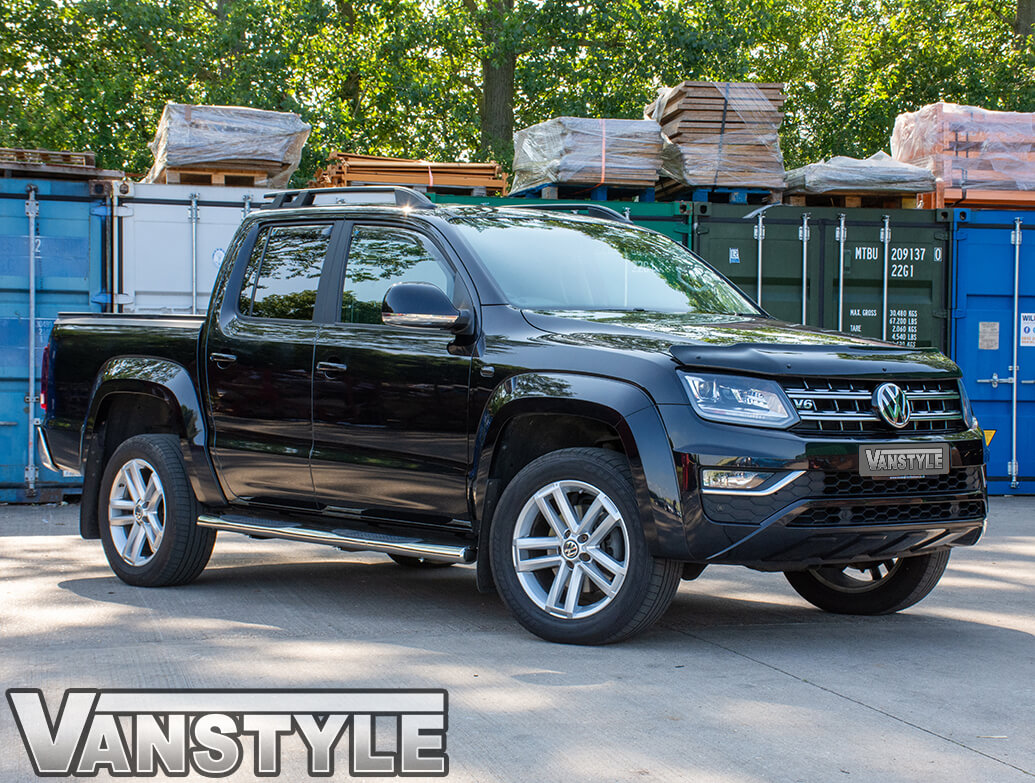 Gloss Black Acrylic Bonnet Deflector - VW Amarok 2010>