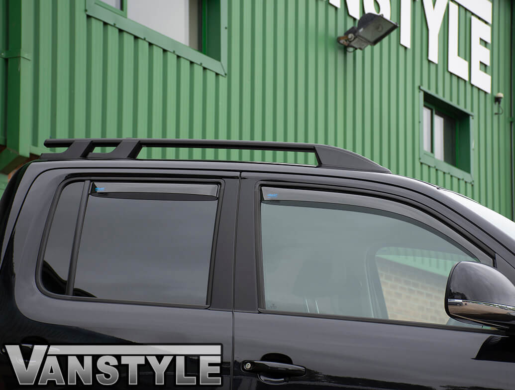 Black Aluminium Roof Bars - VW Amarok 2010>