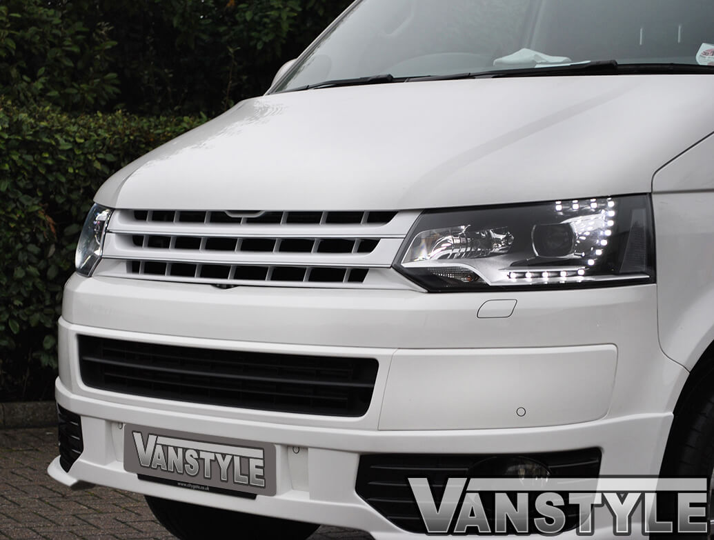VW T5 10-15 \'Sportline\' White Badgeless ABS Front Grille