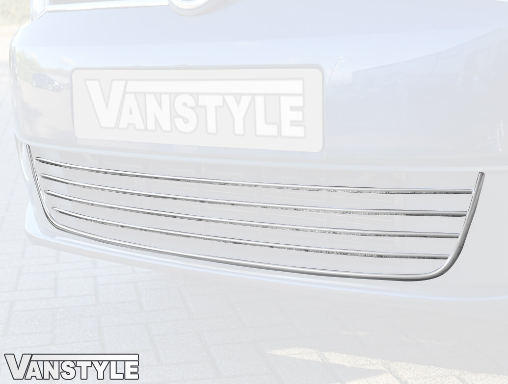 VW Caddy Lower Front Bumper 5 Pcs Stainless Steel Trim 10-15