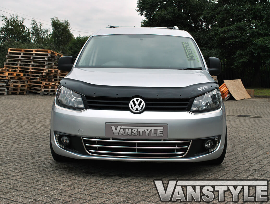 Stainless Steel Front Headlight Trim Surround - VW Caddy 10>15