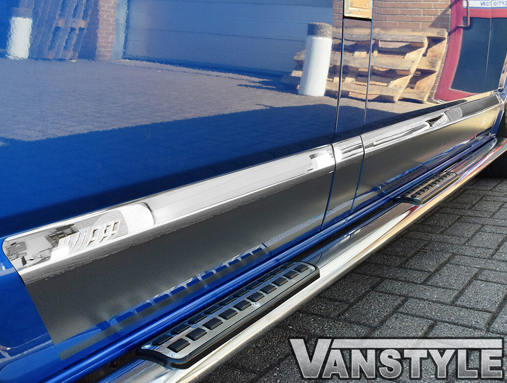 VW T5 / T6 Stainless Steel Chrome Side Streamer Trim