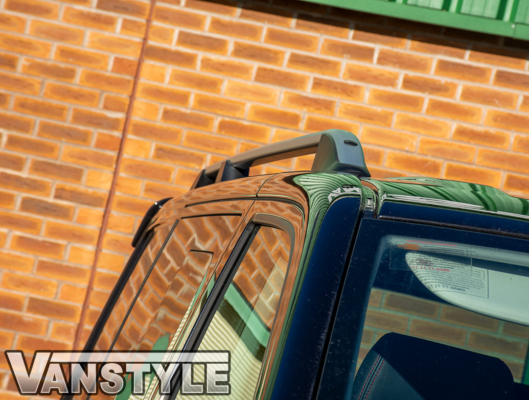 Satin Silver Aluminium Roof Rail Bars - VW T5/T6 03> - SWB/LWB