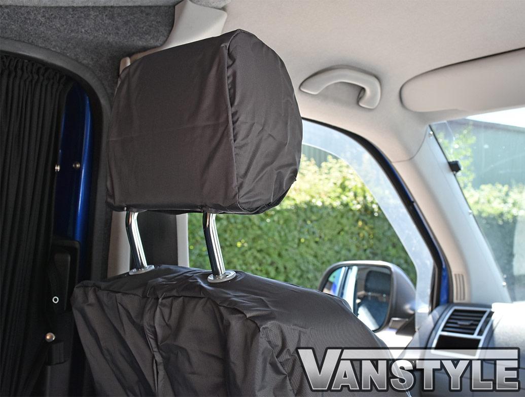 Genuine VW Front Waterproof Grey Seat Covers - VW T5 10-15