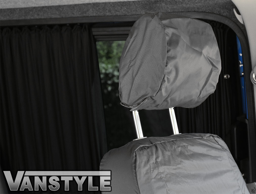 Genuine VW Front Waterproof Grey Seat Covers - VW T5 03-09
