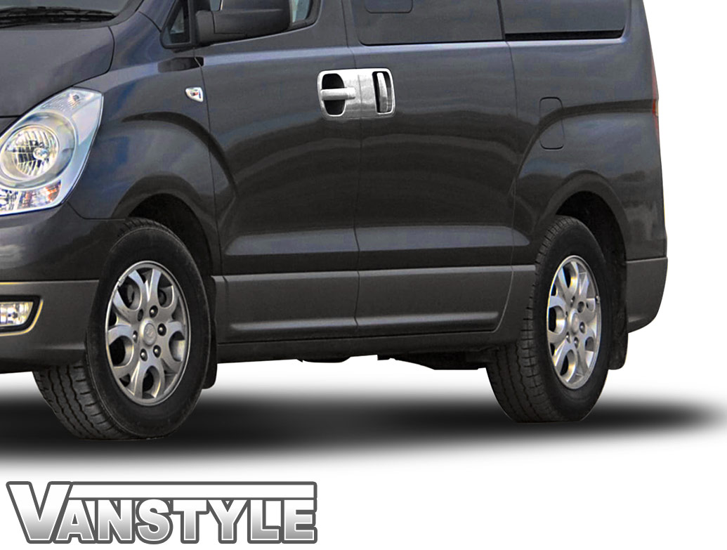 Polished Stainless Steel Door Handle Covers - Hyundai i800/iLoad