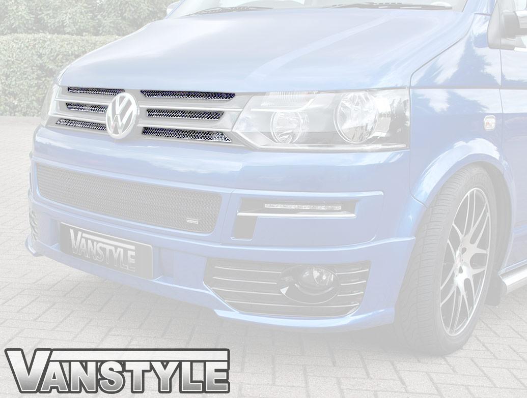Zunsport Polished Chrome Upper 6pc Grille Set - VW T5 10-15