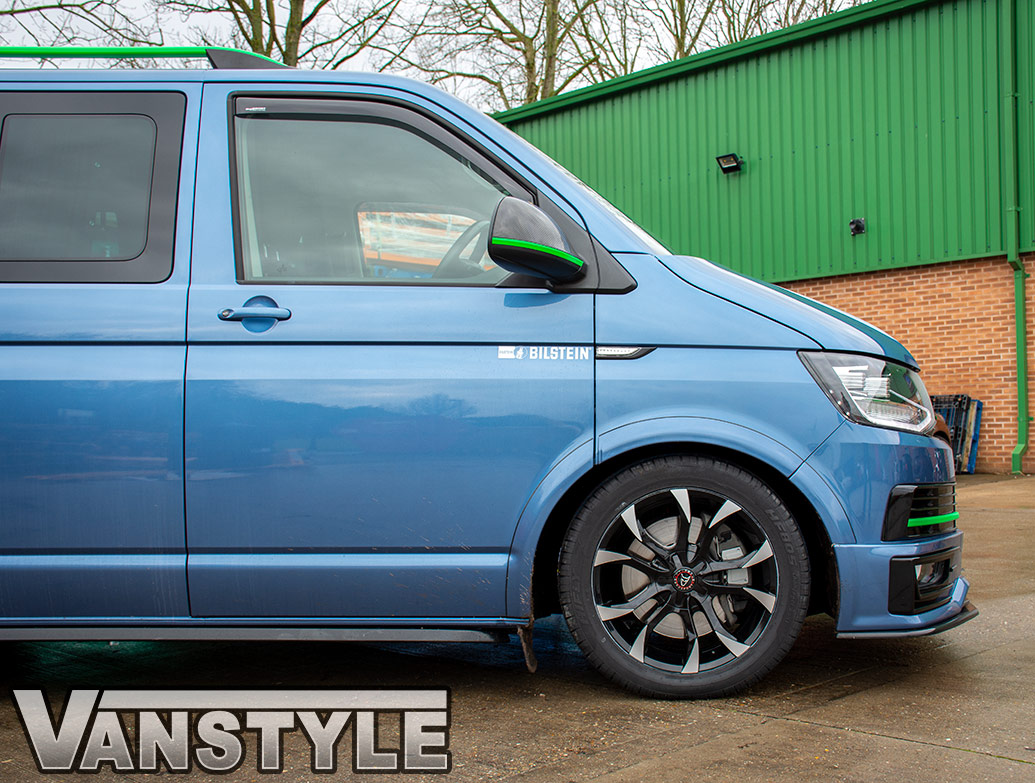 Wolfrace Assassin 18in 8J Black/Polished - VW T5/T6 Wheel & Tyre