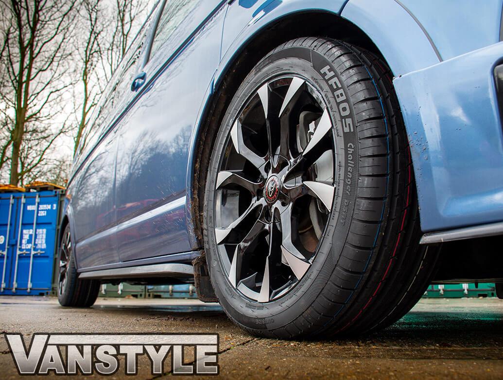 Wolfrace Assassin 18in 8J Black/Polished - VW T5/T6 Wheel & Tyre