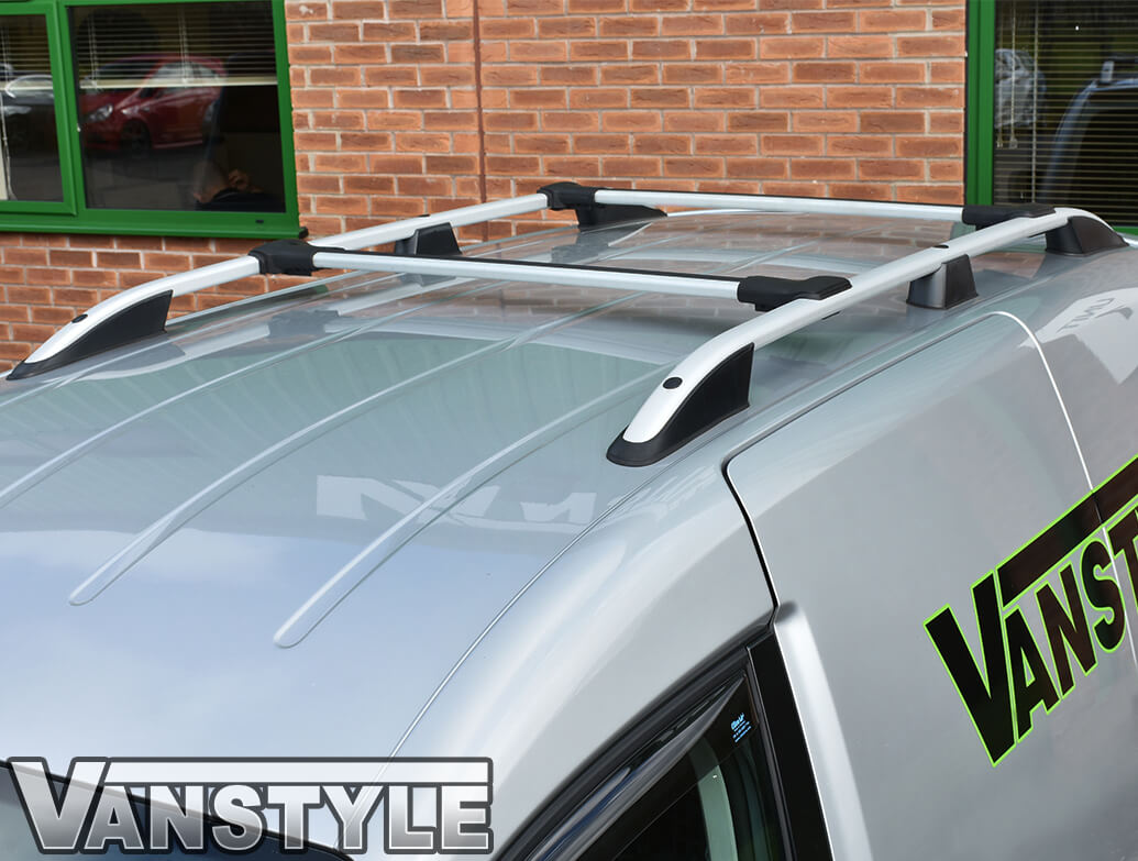 VW Caddy Silver Roof Bars & Cross Bar Set