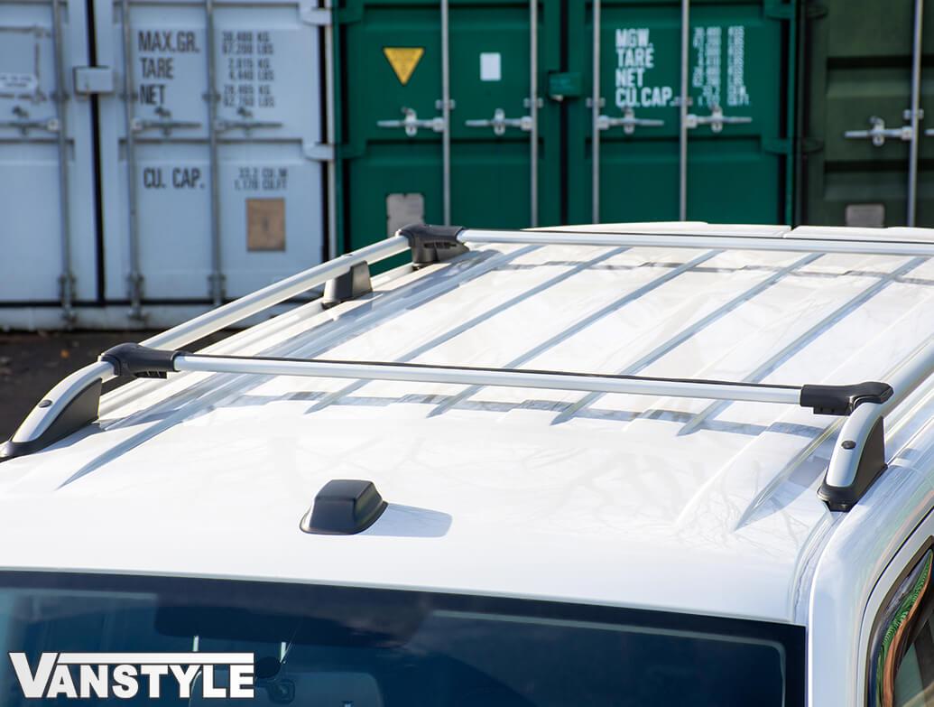 VW T5 & T6 SWB Silver Roof Bars & Cross Bar Set