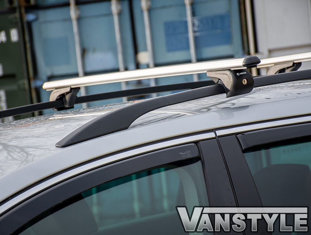 VW T5 2003-2015 SILVER LOCKABLE CROSS BARS SET ALUMINIUM ROOF BARS ROOF RACK