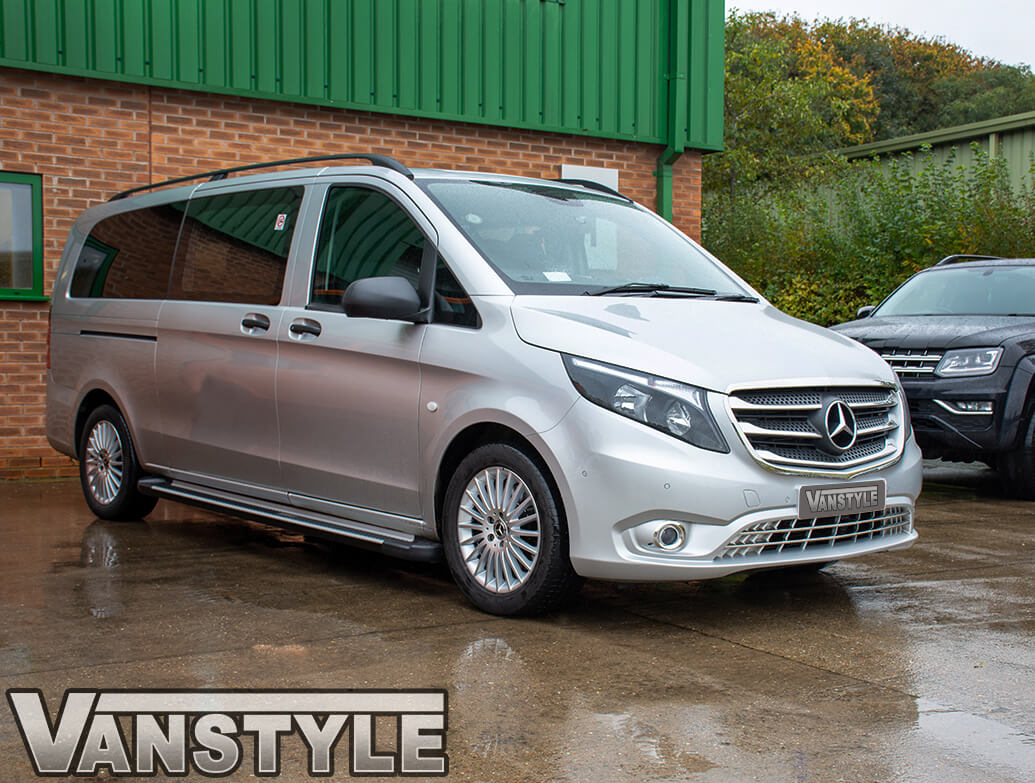 Mercedes Vito 5Pc. Stainless Steel Upper Front Grille Trim 2014>