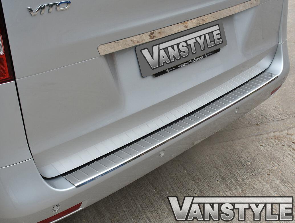 Mercedes Vito Polished Rear Bumper Protector 2014>