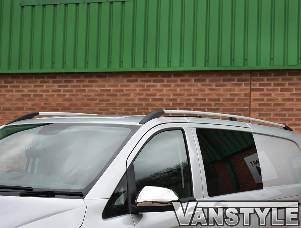 Mercedes Vito Aluminium Silver Roof Styling Bars 03-14>