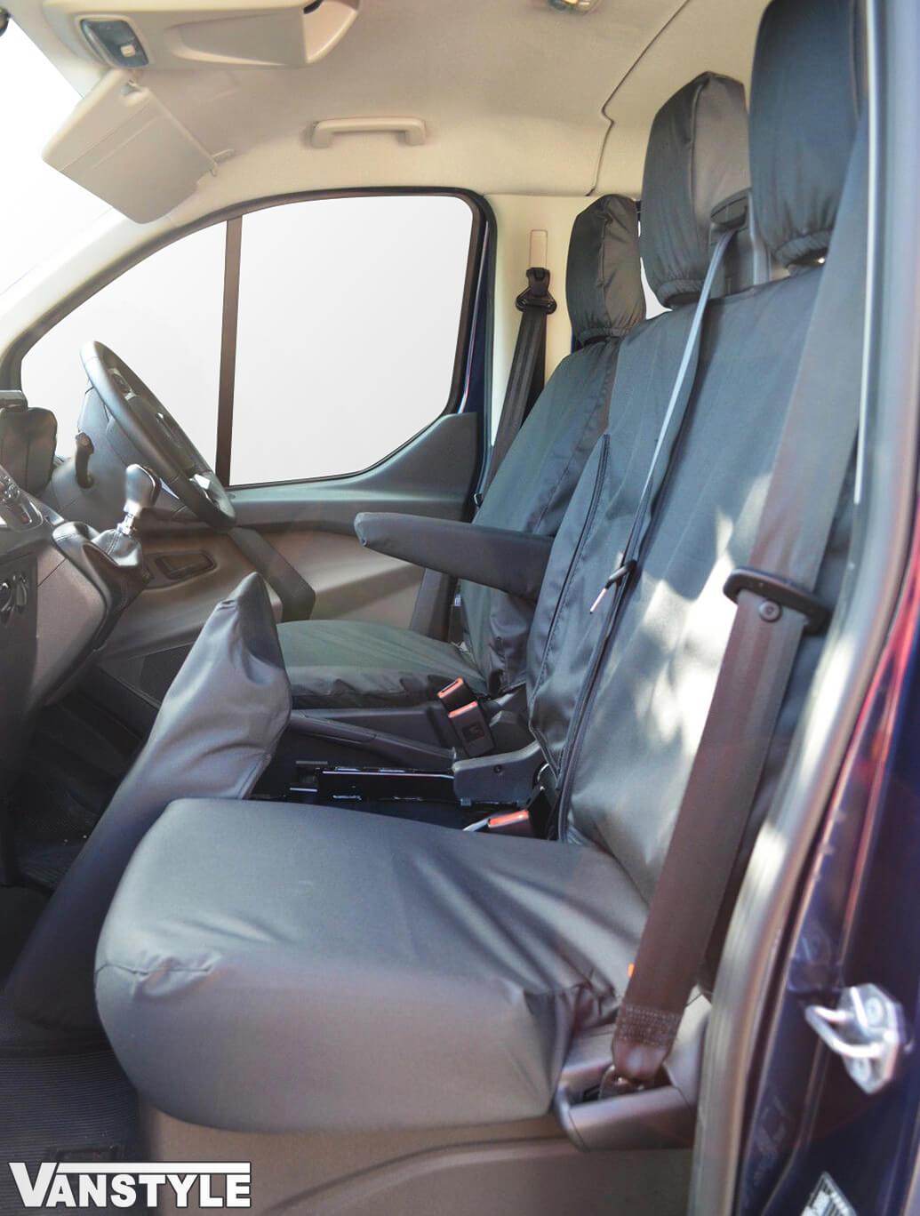 100% Waterproof Tailored Black Seat Covers Transit Mk8 14-19>