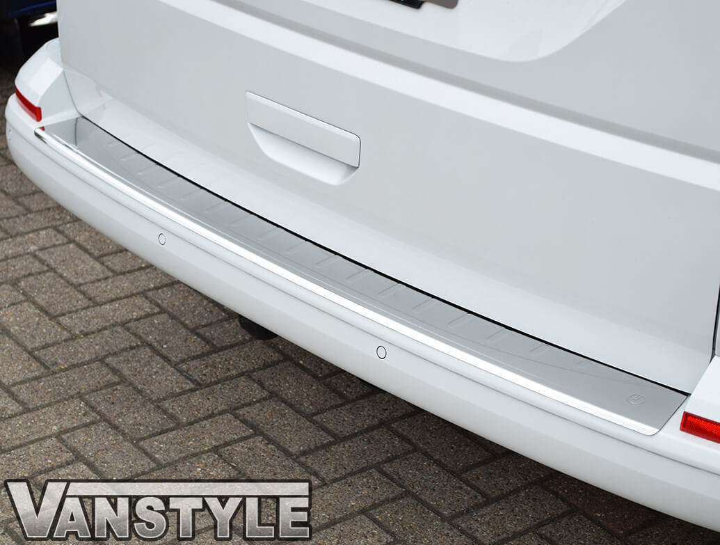 VW T6 T6.1 Tailgate Polished Rear Bumper Protector