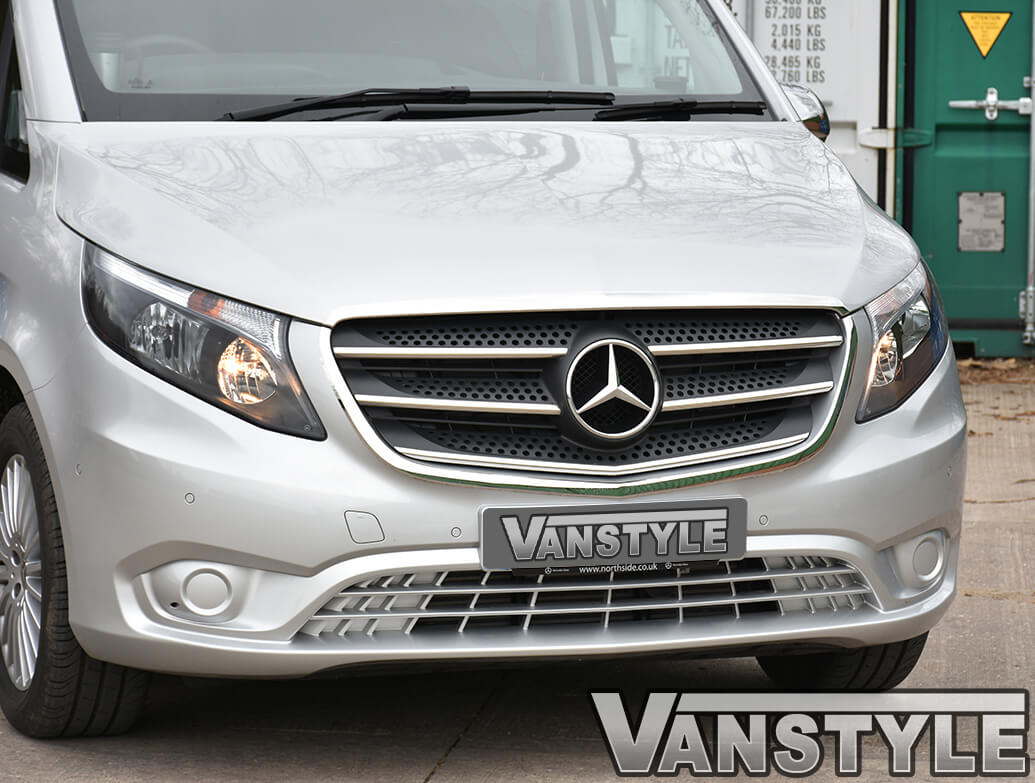 Mercedes Vito W447 2014> 2Pcs Stainless Steel Grille Trim