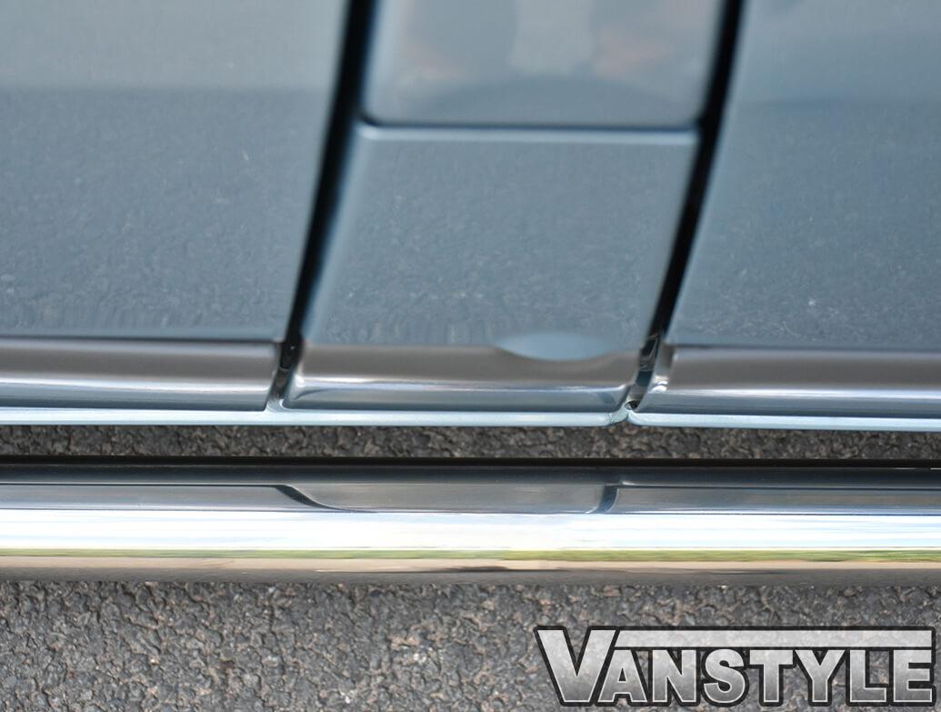70mm Polished Stainless Steel Side Bars - Transit Mk6/7 SWB RWD