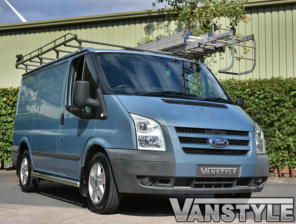 70mm Polished Stainless Steel Side Bars Transit Mk6 7 Swb Rwd Vanstyle