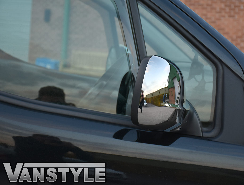 Chrome ABS Wing Mirror Covers - Berlingo/Partner 2012>