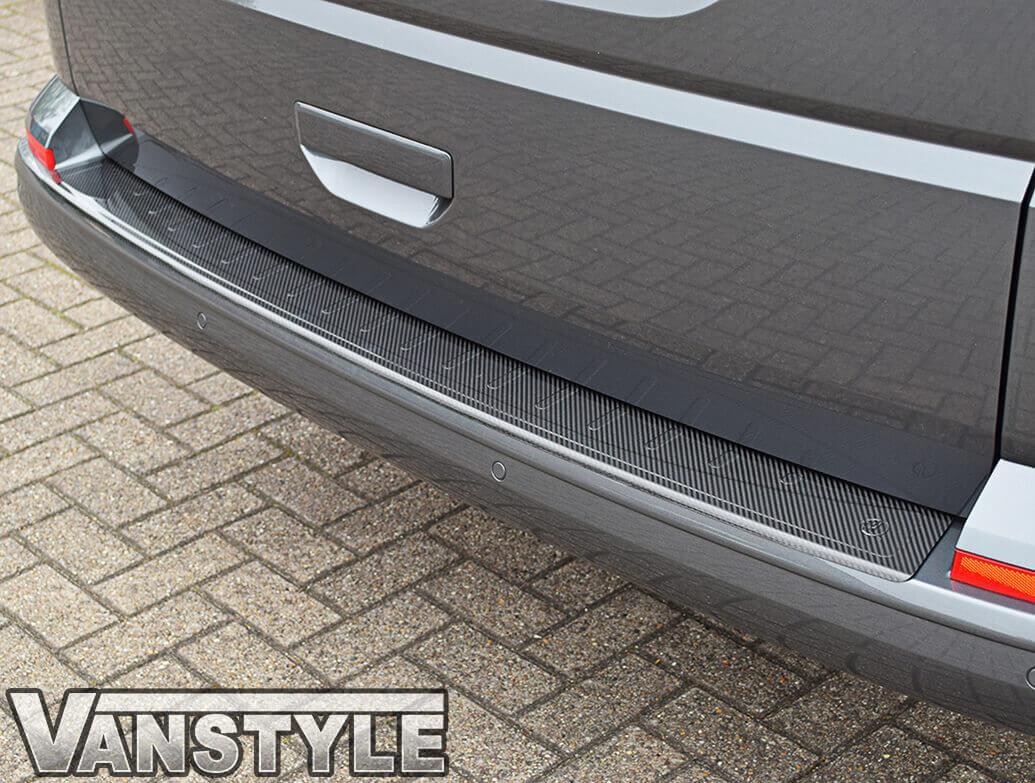 VW T6 T6.1 Tailgate 15> Real Carbon Fibre Bumper Protector