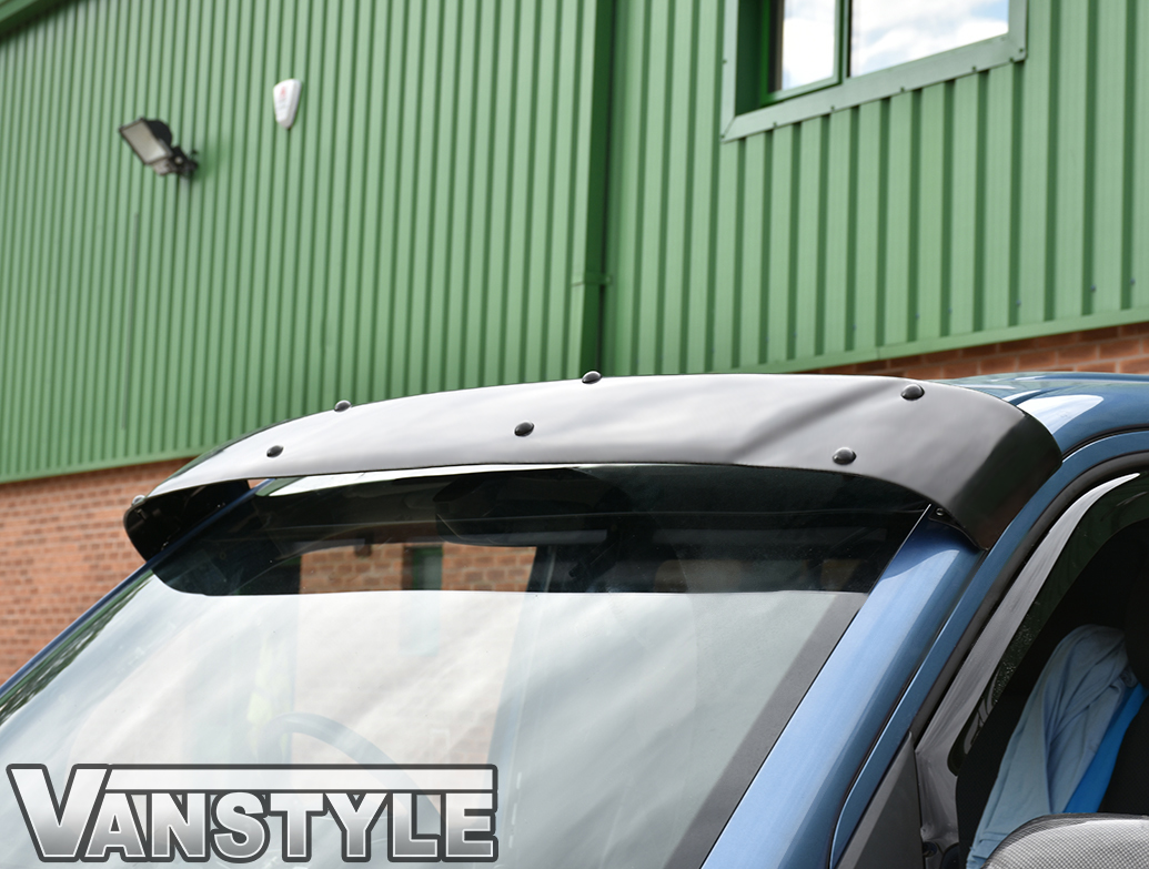 Black Acrylic High Impact Sun Visor - VW T5 03>15 & T6 15>
