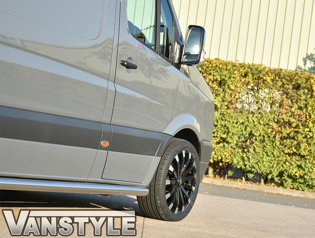"Wolfrace Renaissance Black Polished 8.5x20\"" Wheel & Tyre Set"