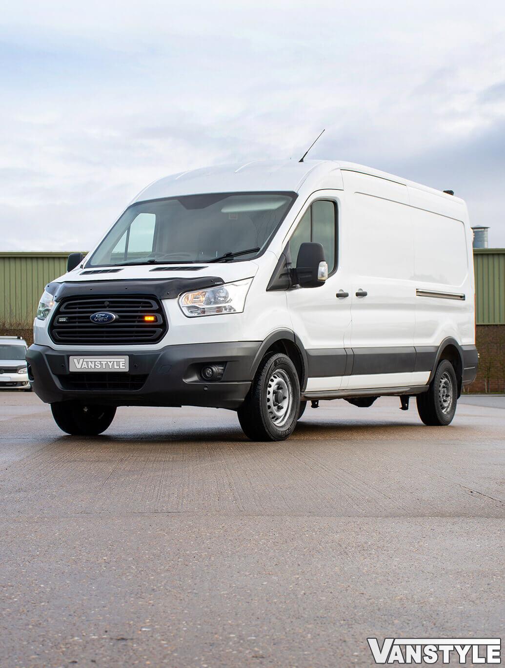 Ford Transit Mk8 2014-2019 Black Bonnet Wind Deflector