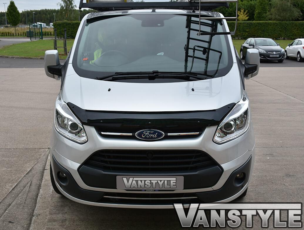 Ford Transit Custom 2012-18 Black Acrylic Bonnet Wind Deflector