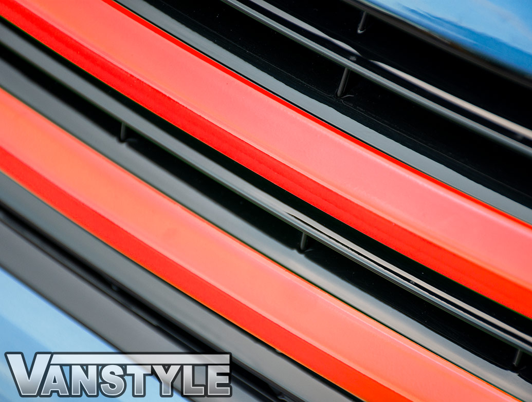 Red Edition 2-Piece - Front Grille Upper Trim - VW T6 2015>
