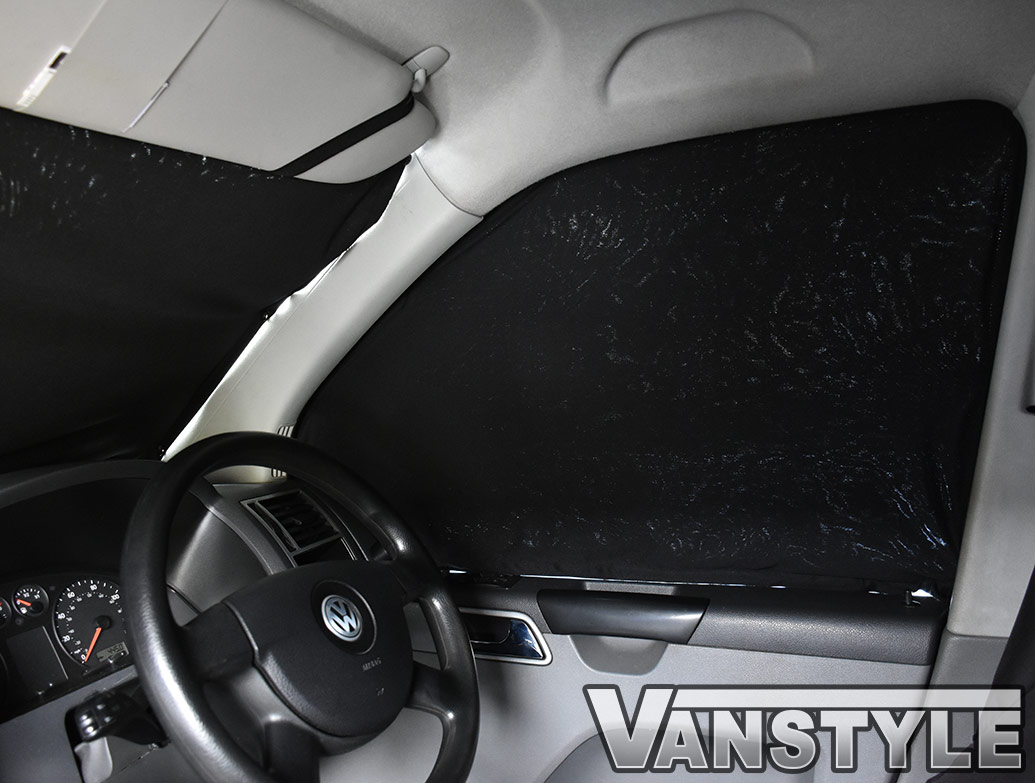 Vw T5 T6 Tailored Curtain Cab Front Black Vanstyle