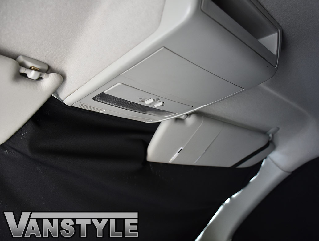 VW T5/T6 Tailored Curtain - Cab Front - Black