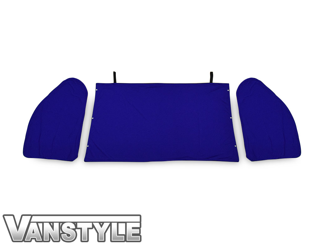 VW T5/T6 Tailored Curtain - Cab Front - Blue